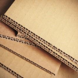 carton ondul gros plan, matriaux d'emballage