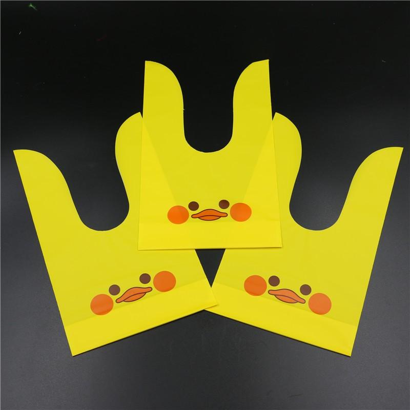 14-22-см-качество-прекрасный-желтая-утка-губы-OPP-печенье-подарочные-упаковки-сумки-настоящее-время-пластиковые