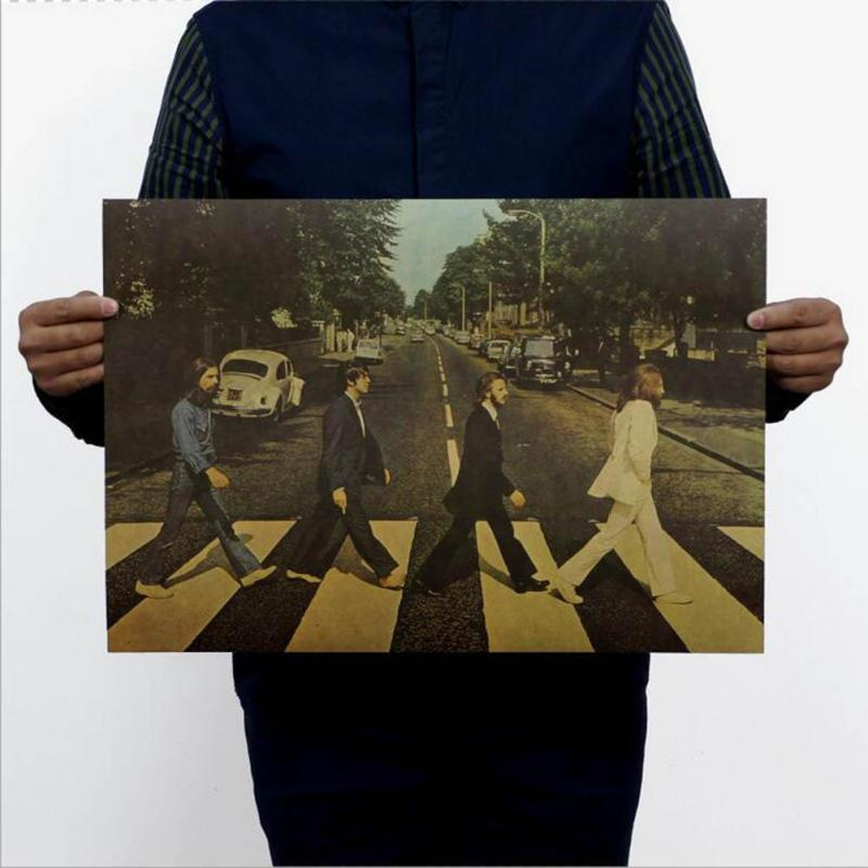 The-Beatles-poster-retro-nostalgia-kraft-paper-decorative-painting-wall-sticker-L40