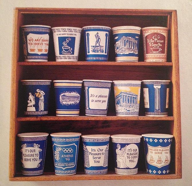 одноразовые стаканчики в греческом стиле (коллекция)