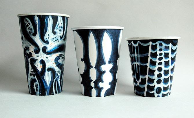 оригинальные одноразовые стаканчики