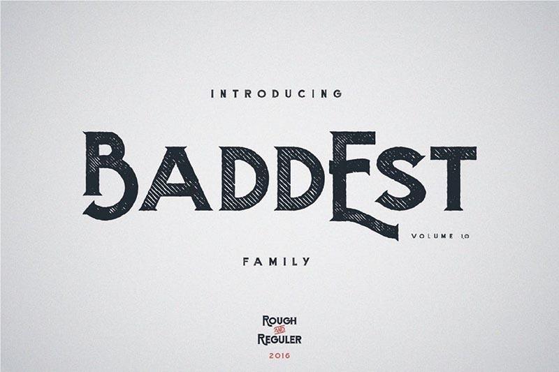 Baddest-typeface
