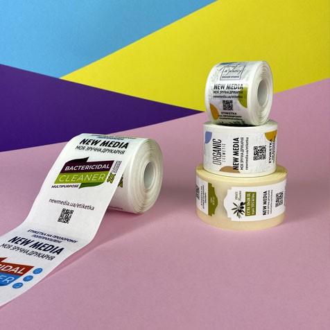 печать этикеток на пленке в рулонах малыми тиаражами